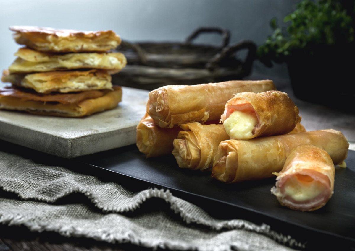 Verga παραδοσιακές Φλογέρες με τυρί και αλλαντικά